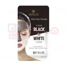 Skinlite Mud Multimask T-Zone Black & White U-Zone