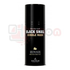 The Skin House Black Snail Bubble Mask - must vahutav mask teolima ja puusöega