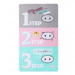 Holika Holika pooride puhastuskomplekt Pig Nose Clear Black Head 3-Step Kit