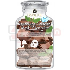 SKINLITE Nourishing Collagen Mask Chocolate - toitev kangast näomask